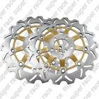 Front Brake Disc Rotors For Kawasaki ZZR400 90-99 ZZR600 90-93 ZRX400 94-01 Gold