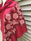 Pashmina Womens Scarf Scarve Stole Shawl Wrap Red Black Floral 74 X 29