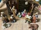 Holiday Time 10 Piece Hand Painted Porcelain Nativity Set with Box