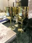 5X MOET CHANDON GOLD CHAMPAGNE ACRYLIC PLASTIC GOBLET FLUTE PARTY GLASS