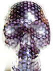 Dichroic Fused Glass Halloween SKULL Standing Sculpture Paperweight Signed