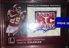 2010 TOPPS JAMAAL CHARLES LETTERMAN REF ROOKIE LOGO PATCH AUTOGRAPH RC AUTO 8 79
