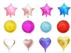 18 Foil Star Heart Round Balloons Wedding Party Festival Decor Baby Shower
