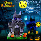 Halloween Spooky Haunted House Flashing Lights Sound Motion Sensor Decoration
