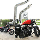 Chrome 175 LAF LAF Drag Pipes Exhaust Harley Sportster XL 48 72 883 1200