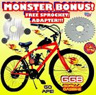 MONSTER 80cc Gas Motor COMPLETE ENGINE WITH 26 BIKE BICYCLE MOPED SCOOTER KIT