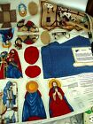 Vintage CHRISTMAS FABRIC for Crafting a NATIVITY Superb Condition w Instructions