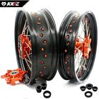 KKE 3.5/4.5 Supermoto CUSH Wheels Rims Set Fit KTM 625 SMC 2004 640 LC4 660 SMC