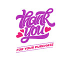48 THANK YOU FOR YOUR PURCHASE HEART STICKER LABEL ENVELOPE SEAL 12 ROUND