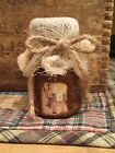 Primitive Miniature Grubby Jar Cupboard Tuck Reindeer Christmas Winter Grungy