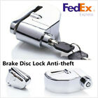 Anti-theft Wheel Disc Brake Lock with Security Alarm for Motorcycle Bike Bicycle