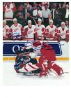 Chris Osgood & B Shanahan Detroit Red Wings 8x10 AUTOGRAPH FIGHT PHOTO WITH ROY