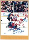 Mike Vernon & Shanahan & McCarty Detroit Red Wings AUTOGRAPH 8x10 FIGHT PHOTO