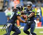 RUSSELL WILSON AND MARSHAWN LYNCH SIGNED AUTOGRAPH 8x10 RP PHOTO SEATTLE