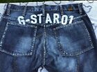 G Star Raw Embroidered Button Fly Vintage Denim Jeans 36 x 32 Blue RARE