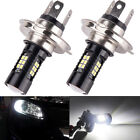 2x H4 9003 HB2 6500K 100W LED Fog Driving DRL Light Bulb HID White