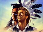 Dances with Wolves Native American Art Indians Print POSTER UK