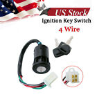 4 Wire Ignition Key Switch Lock Chinese GY6 Scooter Motorcycle Moped 50cc 150cc