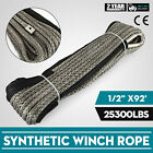 92ft*1/2 Dyneema Rope Winch cable Lightweight 25300LBS Winch Rope