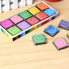 20 Color Childrens Finger Paint Ink Pad Rubber Stamp Craft Wood Fabric Prints