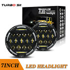 75W 7 Inch Round LED Projector Headlight For Jeep Wrangler JK Chevy Pickup LXL