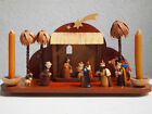 vintage holy night Jesu birth from Erzgebirge collectors christmas nativity