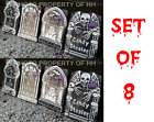 SET OF 8 LOT OF 8 HALLOWEEN TOMBSTONES HAUNTED HOUSE PROP DECORATION FREE SHIP