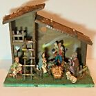 VINTAGE NATIVITY SET 8 FIGURES MADE IN ITALY