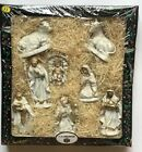 Vintage NIP NATIVITY SET Italian Italy Jesus Christmas Figurines Antique RARE