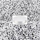 1000PCS White Letter and Alphabet Number Cube Beads with 1 Roll Elastic Crystal