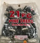 """New 21 LEMAX pine Trees Snow Flocked Christmas 9"""" 4"""" 2"""" 6"""" Village Coventry Cove"""