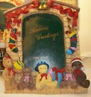 Marco Fiesta Christmas Holiday Photo Frame Teddy Bears On the Hearth Never Used