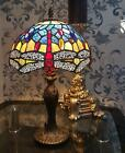 DRAGONFLY TIFFANY STYLE STAINED GLASS TABLE LAMP 10 PERFECT CHRISTMAS PRESENT