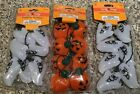 Lot of 3 SPOOKY VILLAGE HALLOWEEN FLASHING 2 Ghost and 1 PUMPKIN NECKLACE