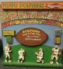 Miami Dolphins football Harry Glaubach hand signed wood art