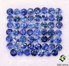 251 Cts Natural Blue Sapphire Round Cut 2 mm Lot 55 Pcs Calibrated Gemstones