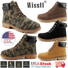 Mens Winter Snow Work Shoes Waterproof Leather Outdoor Martin Boots Ankle Shoes