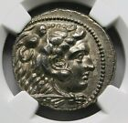 NGC AU Alexander the Great Stunning Tetradrachm Ancient Greek Silver Coin