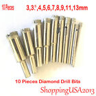 10 Pcs 3 13mm Diamond Coated Drill Bits Set Hole Saw Cutter Tool Glass Marble