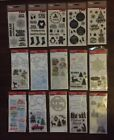Variety of 15 Christmas Themed Clear Stamps and Stamp  Die Sets FREE STICKERS