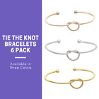 6 Pack Love Knot Bracelets Great for Bridesmaid Gifts and Wedding Favors