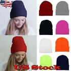Winter Autumn Adults Warm Hat Knit Ski Cap Ribbed Beanie Slouchy Casual Gifts US