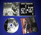 HAND SIGNED vintage Andy Timmons Ear-X-Tacy CD Orig indie release (2)autographs