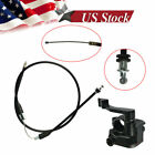 Thumb Lever Throttle Controller Assembly + Cable For ATV Quad Pit Bike 50 150cc