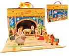 Children Xmas Nativity Full Set 13 Figures  Stable Xmas Special Gift Children