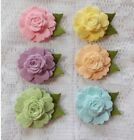 Dimensional Felt Flowers Ready to Use 6 flowers Spring Colors