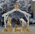 Nativity Scene Standee Lighted Set Christmas Decor Outdoor Yard Figures Large