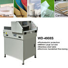 193 Electric Paper Guillotine Cutter Stack Cutting Machine Stainless steel US