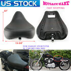 83 03 Front Driver Solo Seat Rear Pad For Harley Sportster XL 883 1200 Custom