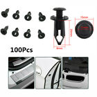 100Pcs 8mm Rivet Fairing Body Trim Panel Fastener Screw Clips Plug For ATV